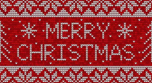 Natal vermelho e branco tricô sem costura de fundo