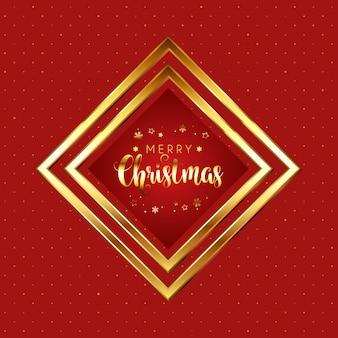 Natal vermelho e dourado