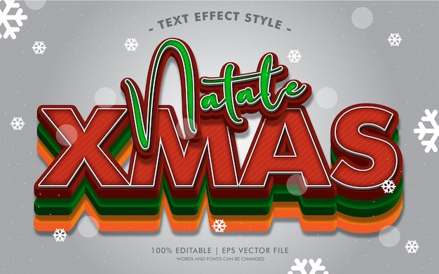 Natale xmas winter text effects style