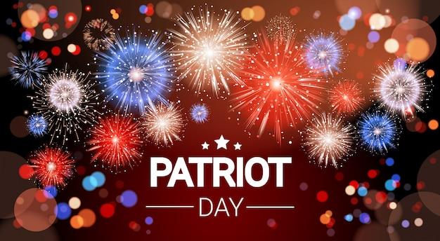 National usa patriot day estados unidos férias fogos de artifício banner