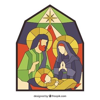 Natividade em estilo mosaico