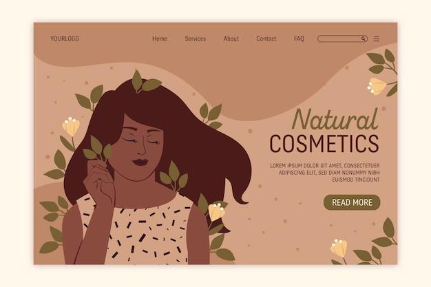 Nature cosmetics - página de destino