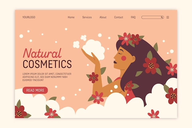 Nature cosmetics - página de destino