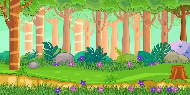 Natureza africana em um estilo cartoon.
