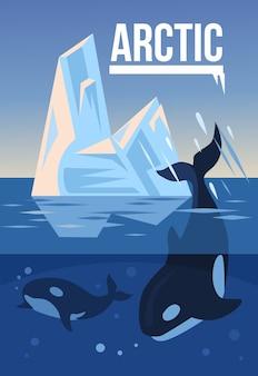 Natureza ártica. ilustração