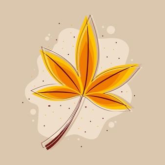 Natureza da folha de outono