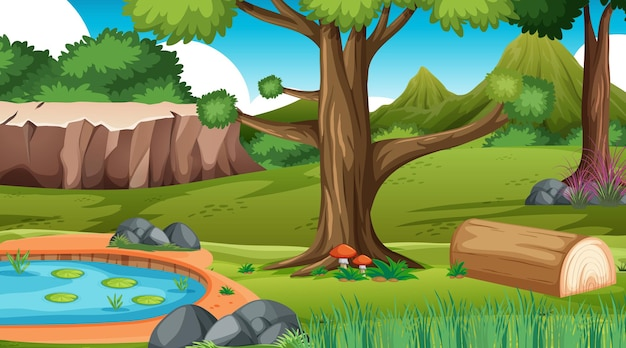 Natureza de fundo de floresta ao ar livre