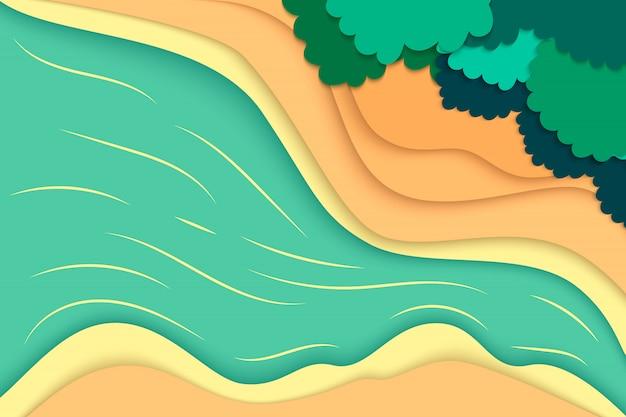 Natureza e ambiente do estilo de arte em papel.