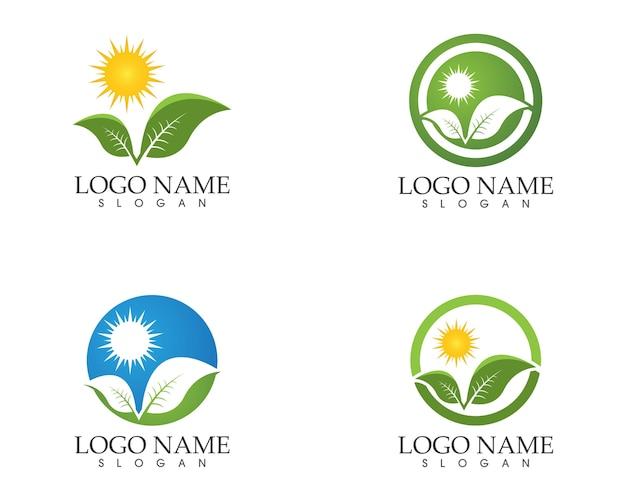 Natureza folha logo design vector ilustração
