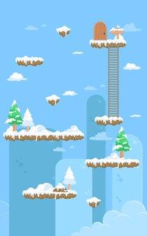 Natureza fundo do jogo de neve