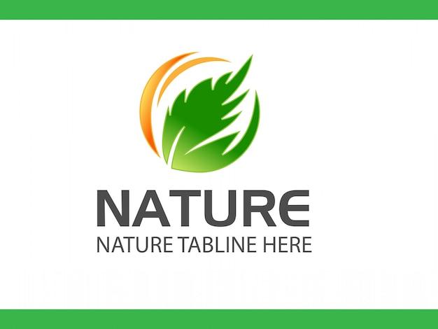 Natureza leat logo design vector download grátis agora