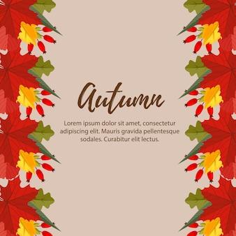 Natureza outono bonito deixa fundo de fronteira