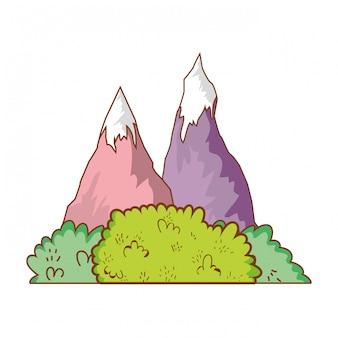 Natureza paisagem com montanha