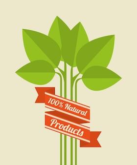 Natureza verde e design de folhas.