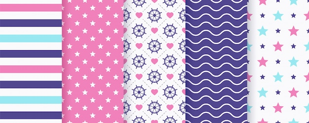 Náutico padrão sem emenda. ilustração. fundos do mar marinho.