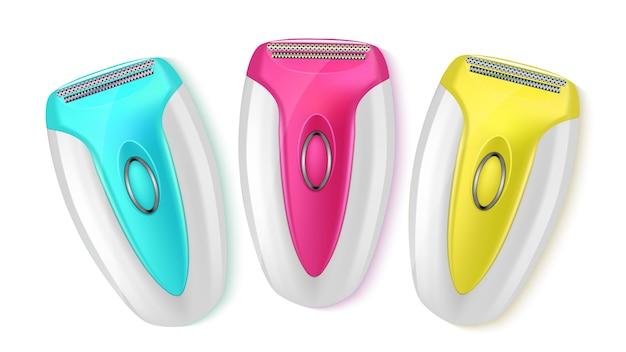 Navalha de barbear moderna elétrica depiladora