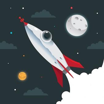 Nave espacial do foguete