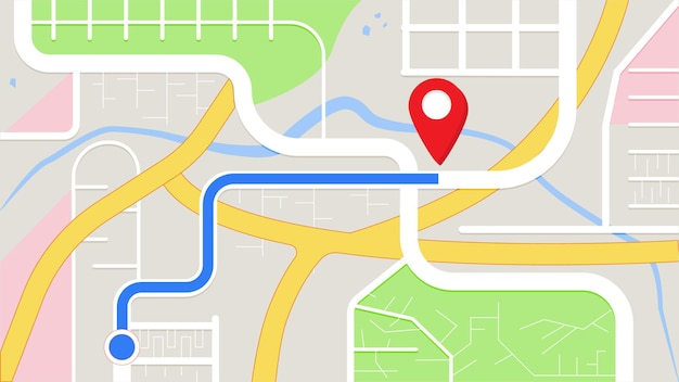Navegação do aplicativo há um destino para chegar ao mapa gps de destino