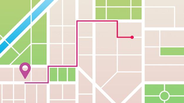 Navegação do mapa da cidade