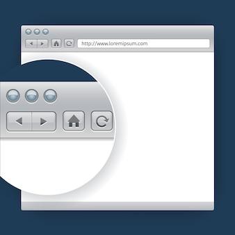 Navegador de modelo vetorial para sites de design de apresentação