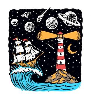 Navegue à noite