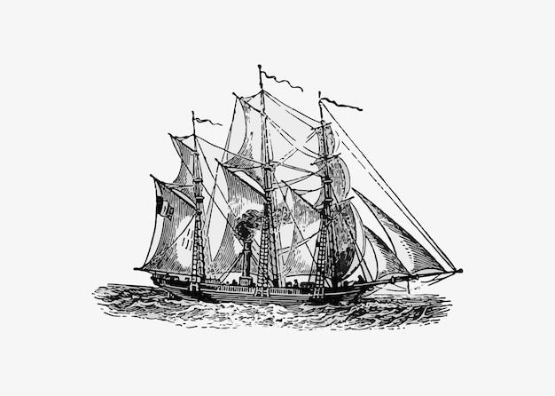 Navio antigo de barco a vapor