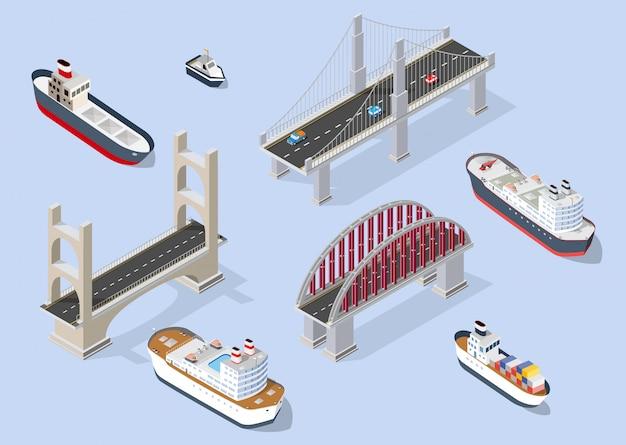 Navio de cruzeiro e transporte náutico de navios de guerra