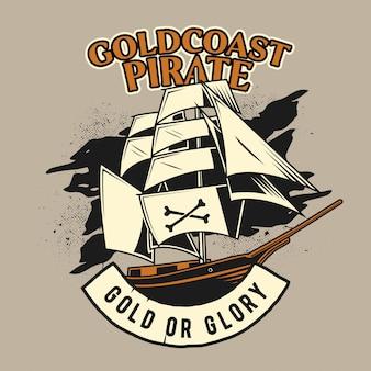 Navio de guerra pirata