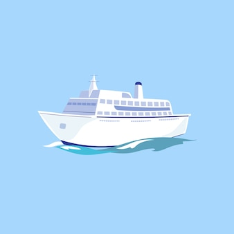 Navio de passageiro branco na água.