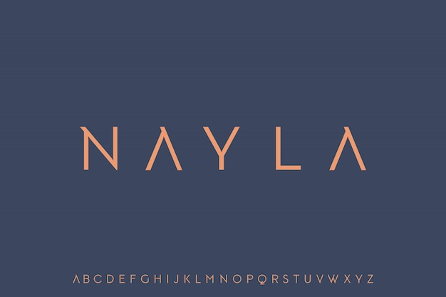 Nayla, fonte elegante e moderna de luxo