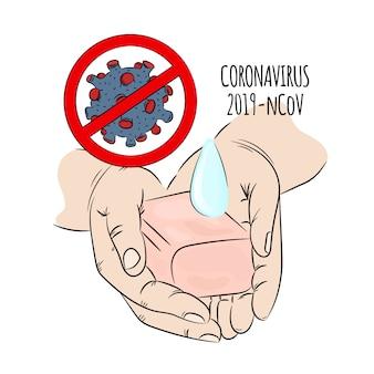 Ncov impede a epidemia humana da terra na saúde de coronavírus