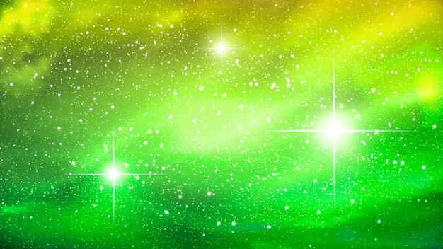 Nebulosa colorida no fundo do espaço.