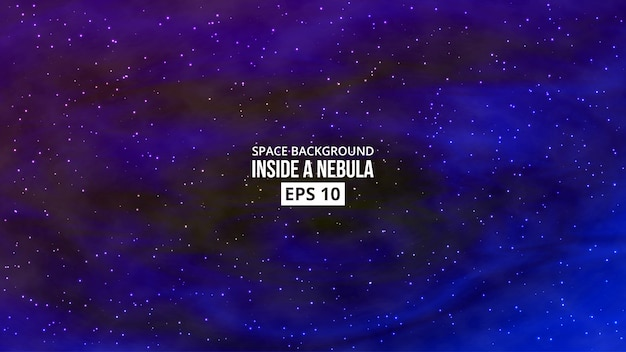 Nebulosa com fundo de estrelas
