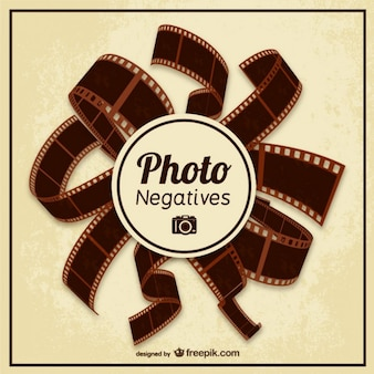 Negativos de fotografias vector