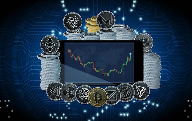 Negociação de criptomoedas por bitcoin