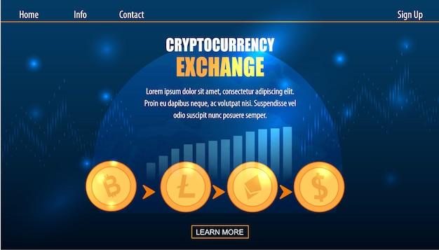 Negociando criptomoeda exchange em dinheiro fiat