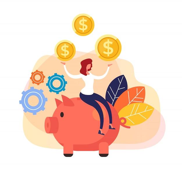 Negócio bem sucedido de investimento em grandes bancos