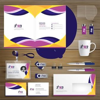 Negócio corporativo folder technology stationery company