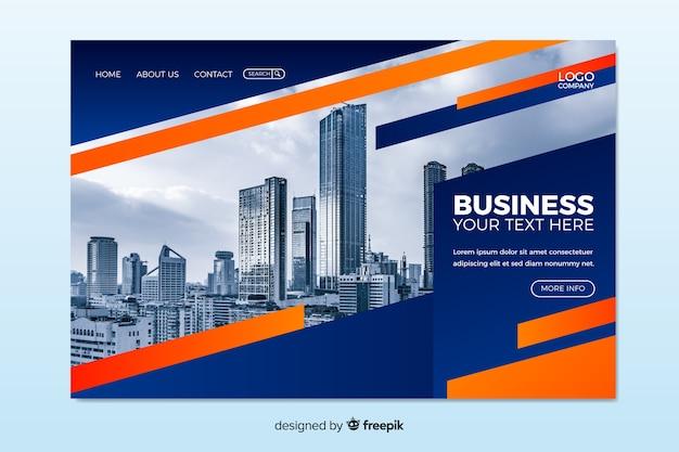 Negócio da página de destino com imagem