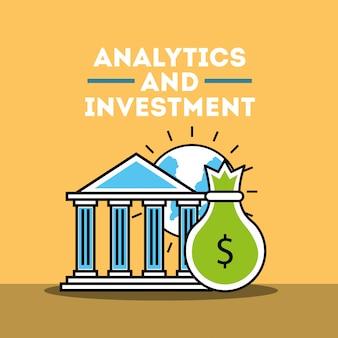 Negócio de análise e investimento