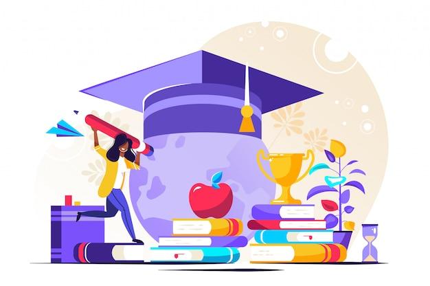 Negócio de banco de investimento em educação