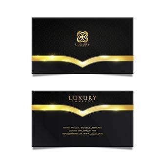 Negócio de cartão de luxo