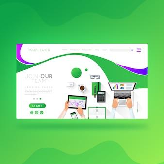 Negócio de design de páginas da web