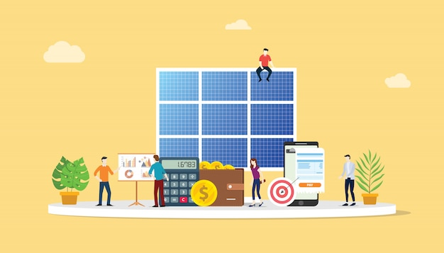 Negócio de energia de painel solar