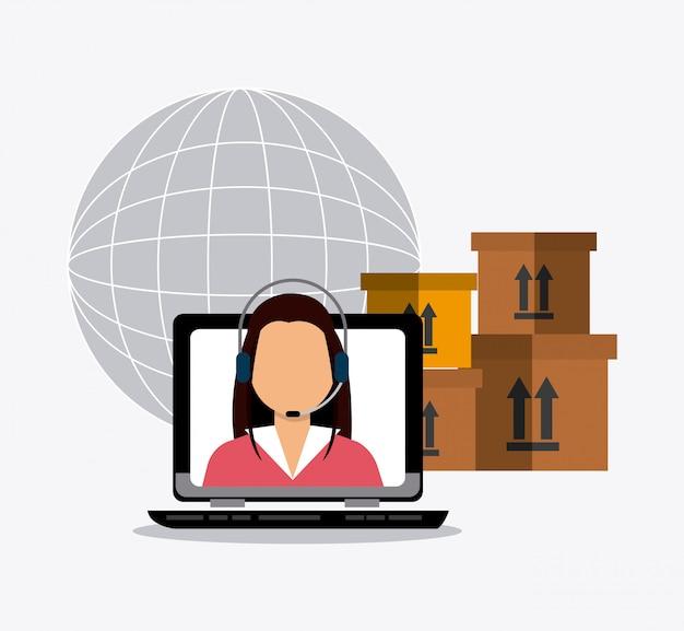 Negócio de entrega e logística