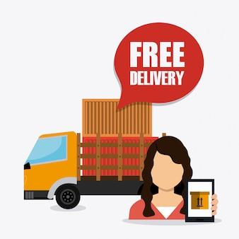 Negócio de entrega, transporte e logística
