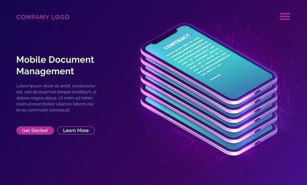 Negócio de gerenciador de documentos móvel