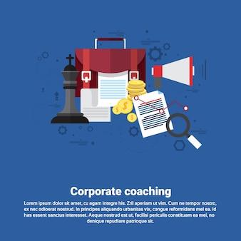 Negócio de gestão de coaching corporativo