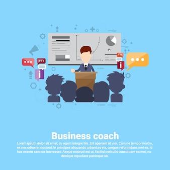 Negócio de gestão de coaching de liderança