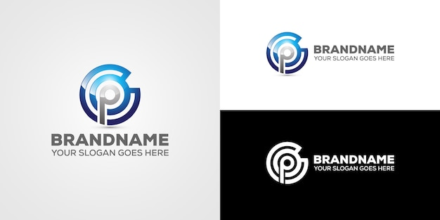 Negócio de logotipo cp carta